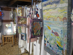 Create Display textiles in Poplar cottage, Singleton
