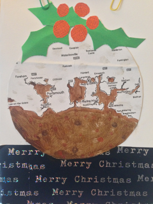 pudding christmas card