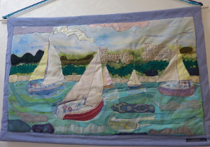 Wall Hanging Boats at Osborne Bay