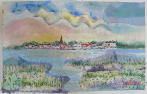 Textile Wall Art View Across Bosham Harbour