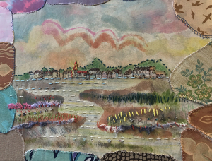 Golden Harbour Textile Art