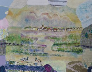 Bosham Harbour View with Ducks Fabric Picture by A Howse