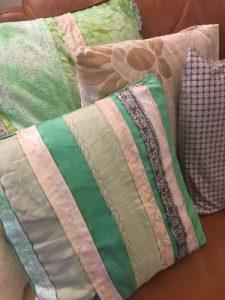 Handmade stripe cushions