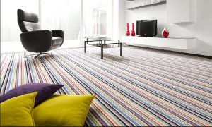 Carpetright stripey carpet