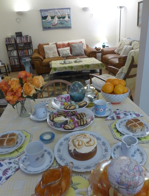 Easter tea table Flemish style