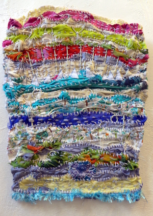 Sail Boats on the Horizon at Bosham Textile Art