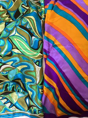 Bright vintage scarves