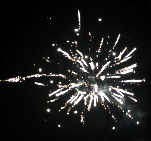 local fireworks in the sky