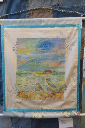 Birds and Fireworks Wall Hanging