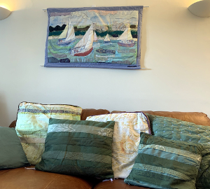 Handmade Wall Hanging & Cushions by A Howse