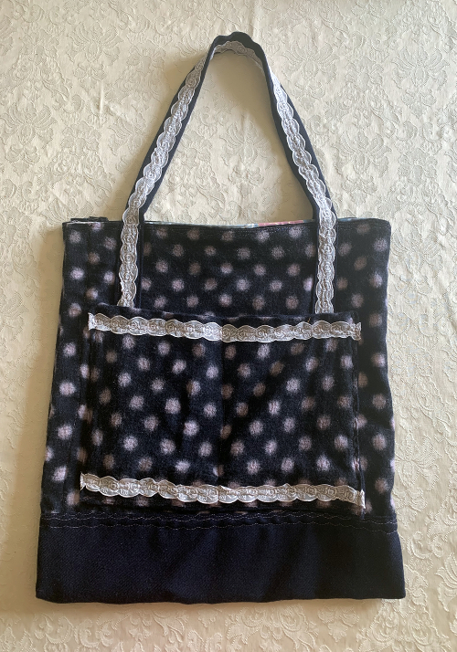 navy spot bag by A Howse