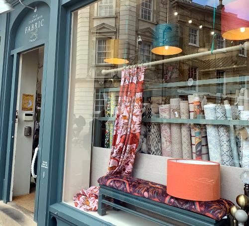Cambridge Fabric Shop Window Display