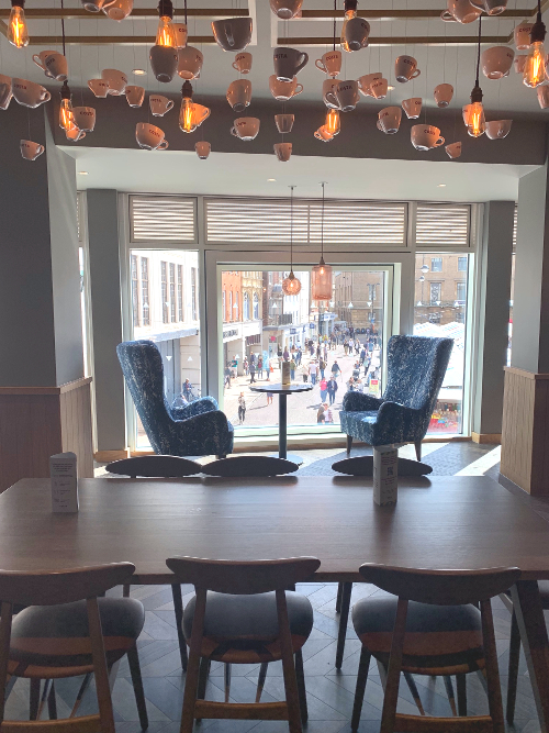 Starbucks Cambridge with view to Market Square