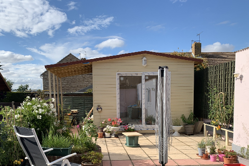 Garden studio with building finished by A Howse and friendsand Kevin the Handyman