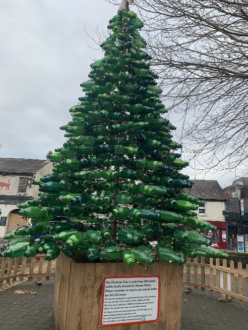 Recycled Artist Tracey Graham Xmas tree
