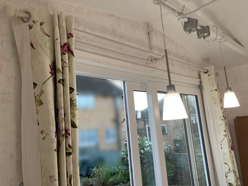Studio Curtains on B and Q Chalki Poles