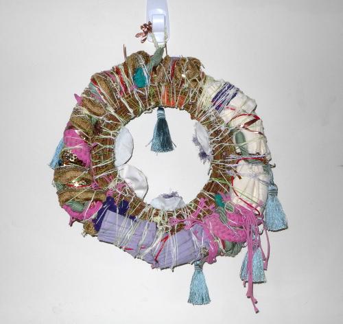 Back of large rainbow wreath