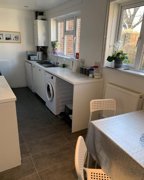 Galley kitchen interior park garden home Hampshire